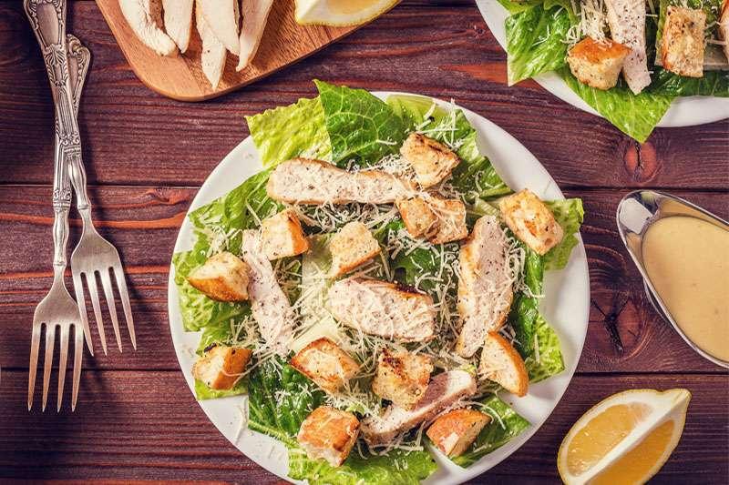 Photo of chicken caesar salad