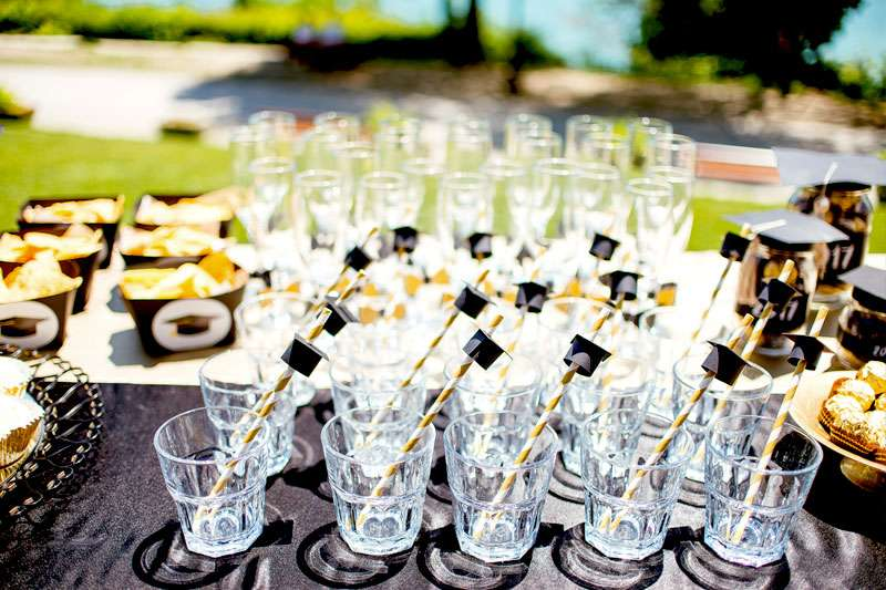photo of graduation table with finger foods
